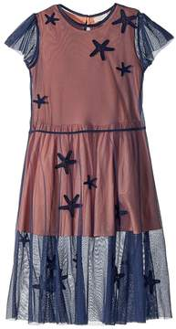 Stella McCartney Marigold Long Tulle Dress w/ Star Patches Girl's Dress