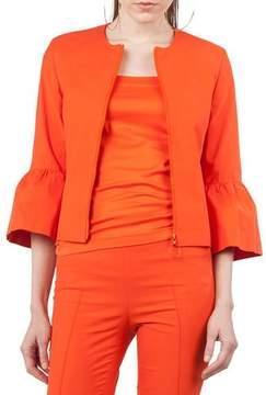 Akris Punto Zip-Front 3/4-Sleeve Jacket