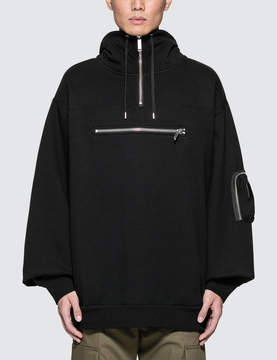 Public School Heron High Collar Hoodie With Chest Pocket Detail