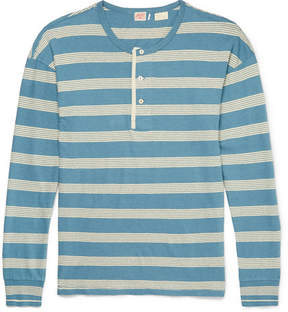 Levi's 1920s Sunset Striped Cotton And Linen-Blend Henley T-Shirt