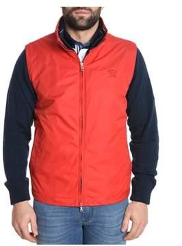 Paul & Shark Men's Red Polyester Vest.