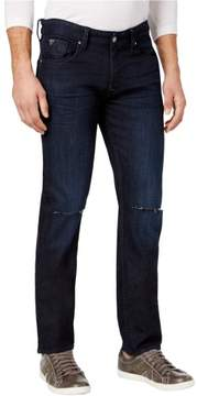 GUESS Mens Straight Leg Ripped Slim Fit Jeans Blue 34x33