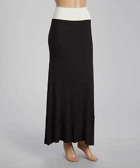 Celeste Black & White Color Block Maxi Skirt - Women