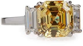 FANTASIA Asscher-Cut Canary Crystal Cocktail Ring