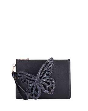 Sophia Webster Flossy Butterfly Pouchette Bag, Black