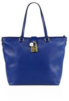 Dolce & Gabbana Leather Tote - BLACK - STYLE