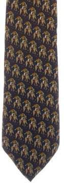 Fendi Silk Equestrian Print Tie