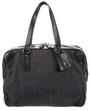 Balenciaga Leather-Trimmed Wool Weekender