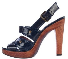 Derek Lam Patent Leather Slingback Sandals