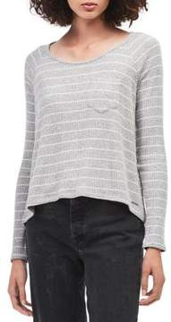 Calvin Klein Jeans Ribbed Stripe Hi-Lo Knit Top