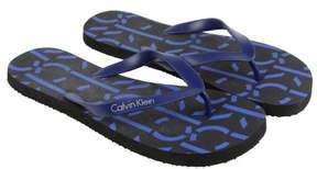 Calvin Klein Andrew Navy Blue Mens Flip Flops Sandals