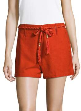 Antik Batik Women's Scarlet Cotton Rope Belt Short