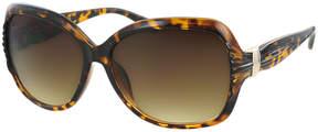 Kay Unger Tortoise Tara Oversize Round Sunglasses