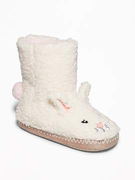 Old Navy Faux-Fur Critter Slipper-Boots for Girls