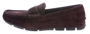 Prada Suede Driving Loafers
