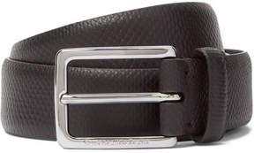Ermenegildo Zegna 3cm Brown Snakeskin Belt