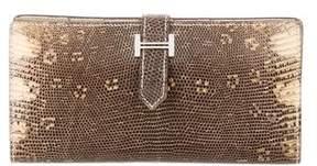 Hermes Lizard Bearn Wallet - NEUTRALS - STYLE