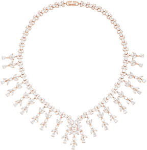 Fallon Monarch Weeping Fern Metal and Crystal Necklace