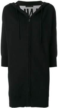 Frankie Morello long zipped cardigan