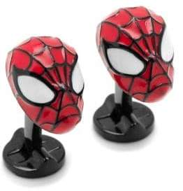 Cufflinks Inc. Cufflinks, Inc. Marvel Comics Silvertone 3D Spiderman Cuff Links