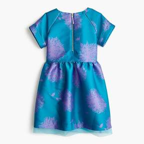 J.Crew Girls' short-sleeve dress in turquoise floral