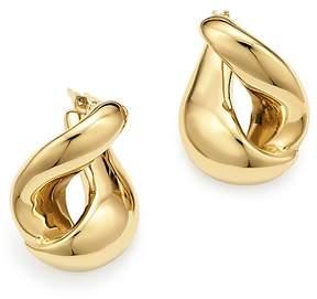 Bloomingdale's 14K Yellow Gold Foldover Earrings - 100% Exclusive
