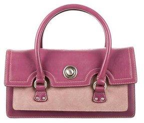 Marc Jacobs Leather Handle Bag - PURPLE - STYLE