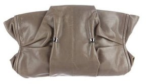 Costume National Ruched Leather Clutch