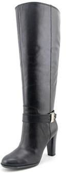 Enzo Angiolini Sumilo Wide Calf Women Round Toe Leather Black Knee High Boot.