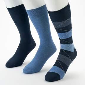 Marc Anthony Men's 3-pk. Wide-Striped Dress Socks