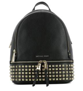 Michael Kors Black Leather Backpack - BLACK - STYLE