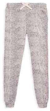 Splendid Girl's Python-Print Jogger Pants