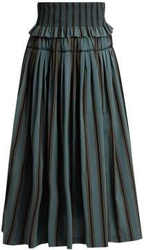Brock Collection Sibylle striped taffeta skirt