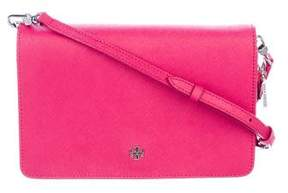 Tory Burch Leather York Crossbody Bag - PINK - STYLE