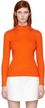 Courreges Orange Classic Ribbed Turtleneck