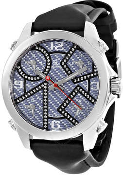 Jacob & co Five time Zone Carbon Fiber Dial Diamond Men's Watch