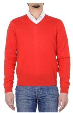 Malo Men's Red Cotton Sweater.