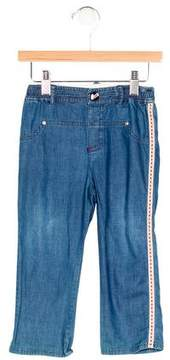 Christian Dior Girls' Embroidered High-Rise Jeans