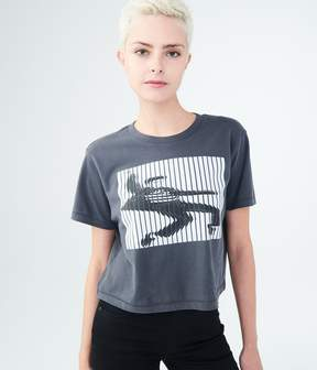Aeropostale Elvis Presley Dancing Crop Graphic Tee