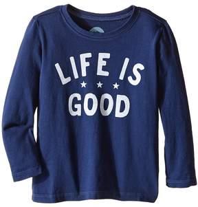 Life is Good Kids Three Star Long Sleeve Tee (Toddler)