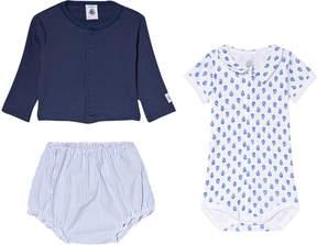 Petit Bateau Blue and White Baby Clothing Set