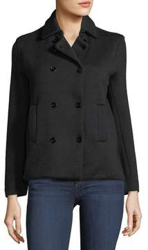 Neiman Marcus Majestic Paris for Wool Double-Breasted Cardigan