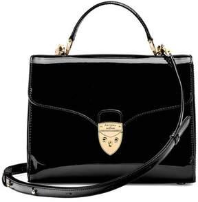 Aspinal of London | Mayfair Bag In Deep Shine Black Patent | Deep shine black patent