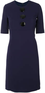 Emporio Armani fitted dress with large buttons