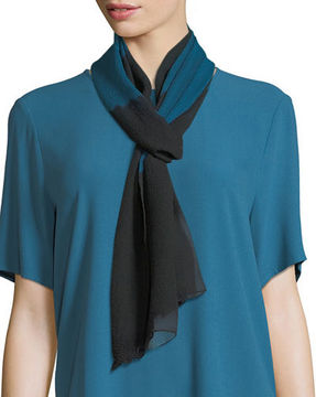 Eileen Fisher Symmetry Silk Shibori Scarf