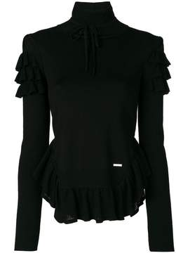 DSQUARED2 frill turtleneck top