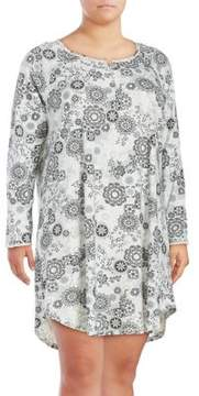 Karen Neuburger Floral Night Shirt Dress