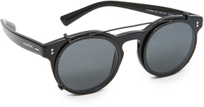 Valentino Rockstud Rivet Browbar Sunglasses