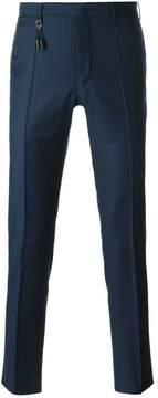 Incotex straight leg tassel detail trousers