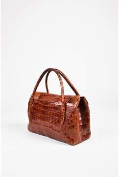 Nancy Gonzalez Pre-owned Rust Brown Crocodile Tote Bag.